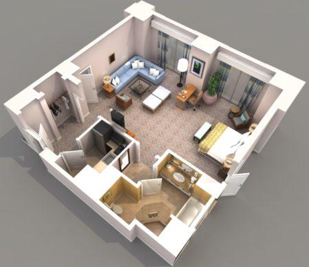 Идеи для маленьких квартир. Зонирование.