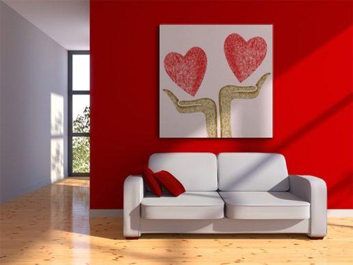 Saint Valentine's day in home