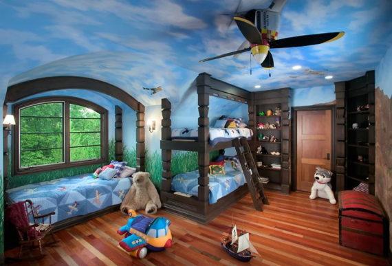 Детская комната для мальчика. 10 интересных идей.